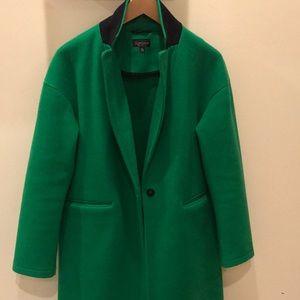Women's TopShop emerald green winter jacket